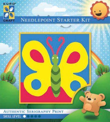 Kinder Borduurpakketje Vlinder