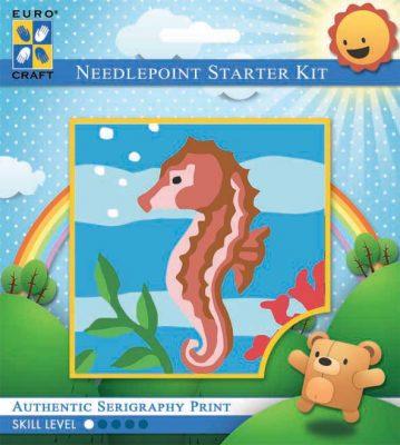 Kinder Borduurpakketje Zeepaardje