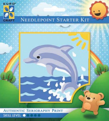Kinder Borduurpakketje Dolfijn