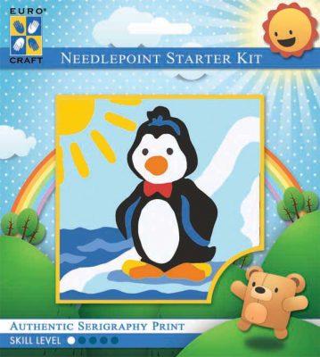 Kinder Borduurpakketje Pinguin