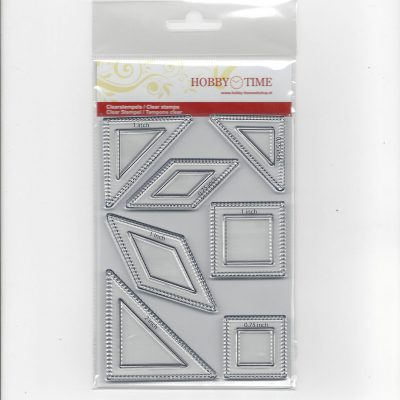 Transparante Quiltstempels CRE0152 o.a eight point star 0.75 inch en 1 inch