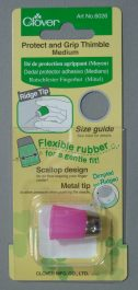 Flexibele rubber vingerhoed medium (Clover)