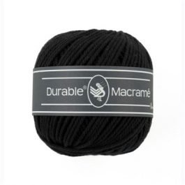 Durable Macramé garen Black 325