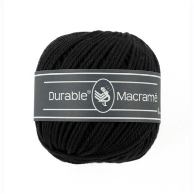 Durable Macramé garen Black 325