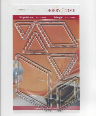 Transparante Quiltstempel CRP0187 Six point star - Triangle