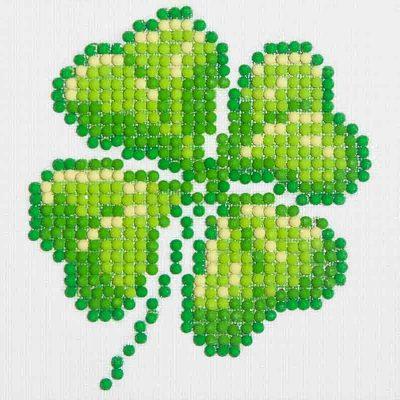 Diamond Dotz Four Leaf Clover Design Size 10.2 x 10.2cm