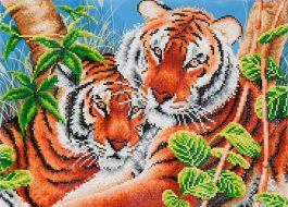 Diamond Dotz Tender Tigers Design Size 52 x 37cm