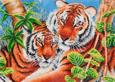 Diamond Dotz Tender Tigers Design Size 52 x 37cm