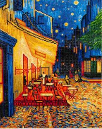 Diamond Dotz Cafe at Night (Van Gogh) Design Size 42 x 52cm