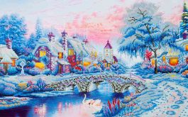 Diamond Dotz Winter Village Design Size 79 x 50cm