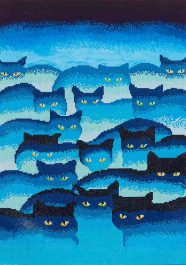 Diamond Dotz Smokey Mountain Cats Design Size 47 x 66cm