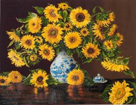 Diamond Dotz Sunflower in China Vase Design Size 71,12 x 55,9cm