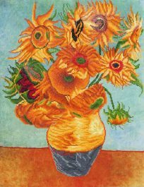 Diamond Dotz Sunflower (van Gogh) Design Size 55,9 x 71,12cm