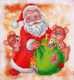 Diamond Dotz Santa & Teddies Design Size 23 x 25cm