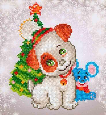 Diamond Dotz Chrismas Pup & Mouse Design Size 23 x 25cm