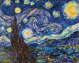 Diamond Dotz Starry Night (Van Gogh) Design Size 50,8 x 40,6cm