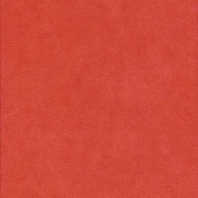Oranje stof met honingraatmotief
