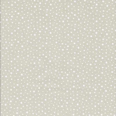 Beige stof met witte sterretjes