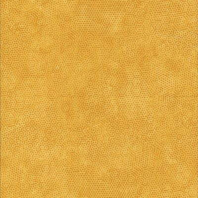 Oranje gele stof met honingraatmotief