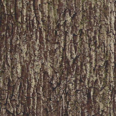 Bruin groene stof met boomschors motief