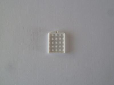 Pixel Medaillon wit 3x4cm