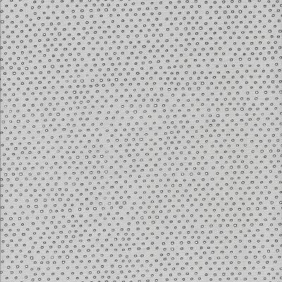 Grijze stof met witte stippen zwart omrand
