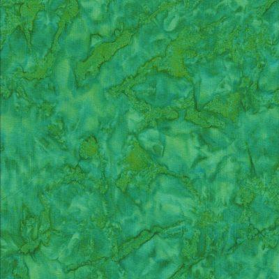 Batik stof fel groen