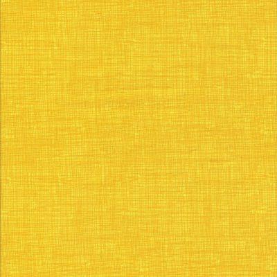 Gele stof met weefmotief