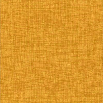 Oker gele stof met weefmotief