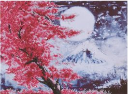 Diamond Dotz Cherry Blossom Mountain Design Size 52 x 38cm