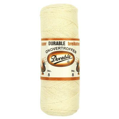 Durable brei-of haakkatoen nr.8 ecru 100 gram